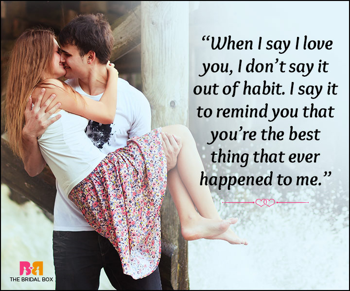 "The Habit Of Saying, ""I Love You"""